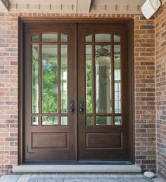 beautiful double front door...will definitely have these!