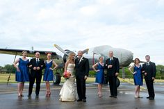 Nothing like a stunning old school airplane as one hell of a prop! Photographs by Alex + Natalie Nelson Photography http://www.storyboardwedding.com/1940s-hawaiian-flavor-in-this-aviation-dream-wisconsin-wedding/