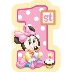 Baby Minnie Mouse 1st Birthday Invitations 8 Count Disney for only $4.80