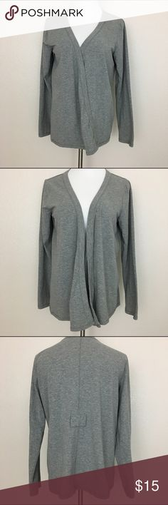 """Motherhood Maternity Wrap Cardigan, Gray, Medium Motherhood Maternity wrap cardigan Soft and stretchy Gray color **missing belt**  Size Medium Armpit to armpit laid flat 19"""" Length 25"""" Approximate only.  This cardigan can be used even after pregnancy.  Great condition.  No stains or holes.  Freshly washed.  Stored in a smoke and pet free household.  Please see pictures for details or asks any questions before buying to avoid return! Motherhood Maternity Sweaters Cardigans"""