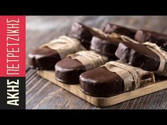 Cariocas by Greek chef Akis Petretzikis! Make these delicious crunchy rich chocolate, walnut, cookie treats, perfect to have on hand for your family or guests! Greek Sweets, Greek Desserts, Greek Recipes, Fun Desserts, Dessert Recipes, Food Network Recipes, Gourmet Recipes, Cookie Recipes, Chocolate Caramels