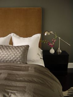 #mohair headboard; perfect to add a touch of luxury to your bedroom