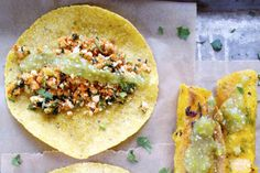<p>These tacos are filled with protein and flavor and a great way to incorporate carrot greens into your day. </p>