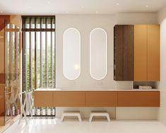 Kid's bathroom #kidsbathroom #modernbarthroomforchildren #minimalisticbathroom #ideasforbathroom #minimalism #minimalisticarchitecture #minimalisticinterior #architecture #modernarchitecture #design #minimalisticdesign #bathroom Minimalist Interior, Minimalist Design, Modern Architecture, Minimalism, Divider, Bathroom, House, Furniture, Home Decor
