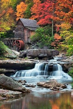 Chronicles of a Love Affair with Nature — inhasa: Glade Creek Grist Mill - West Virginia Beautiful Waterfalls, Beautiful Landscapes, Beautiful Paintings, Landscape Photography, Nature Photography, Travel Photography, Photography Tips, Conceptual Photography, Photography Magazine