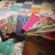 Anna Maria Horner field study linens (from @Brenda - Just a Bit Frayed )