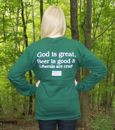 It is preshrunk and is unisex therefore, it is intended to have a looser fit. Republican Gop, Best Beer, I Dress, Stripes, Good Things, God, It's Funny, Unisex, Female