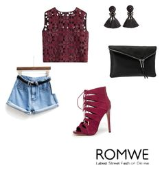 """romwe"" by azra-azra ❤ liked on Polyvore featuring Alberta Ferretti, Bebe, Henri Bendel, H&M and romwe"