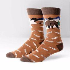 Sock It To Me Mens Crew Bear Necessities Socks