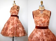 vintage 1950s Emma Domb Light in the Forest Dress