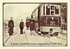 1900. A villamos átadása a Dunaakorzón