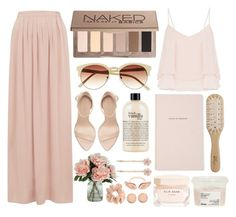 """""""Slowly, and then all at once"""" by tinelemos ❤ liked on Polyvore featuring Vince Camuto, Cameo Rose, philosophy, Philip Kingsley, Kate Spade, Forever New, Urban Decay, Topshop, Elie Saab and Davines"""