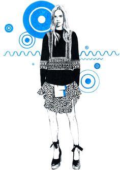Chloe. Editorial illustrations. by Diana Kuksa (Nesypova)