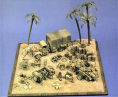North African Campaign, Diorama Ideas, Model Tanks, Military Diorama, Scale Models, Soldiers, Ww2, Armour, Action Figures