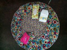 baby travel changing pad/play mat, adapted from brandyscrafts.blogspot.com