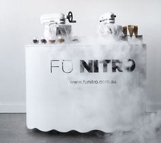 FU Nitro Liquid Nitrogen Ice Cream Gelato bar hire for weddings Thai Ice Cream, Gelato Bar, Ice Shop, Liquid Nitrogen, Ice Cream Brands, Smoothie Bar, Ice Bars, Perspective, Ice Cream Parlor