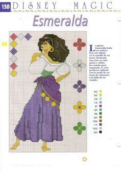 Cross Stitch Disney Esmeralda