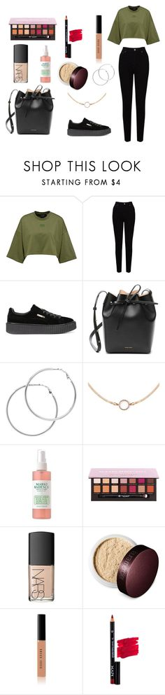 """Untitled #61"" by durples2265 ❤ liked on Polyvore featuring EAST, Puma, Mansur Gavriel, Melissa Odabash, NARS Cosmetics, Laura Mercier, Bobbi Brown Cosmetics and NYX"