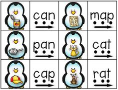 CVC Penguin Word Match-Up