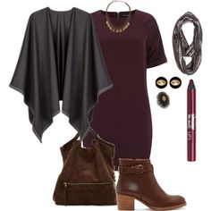 """""""plus size fall/winter chic in burgundy"""" by kristie-payne on Polyvore"""