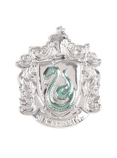 Harry Potter Slytherin Crest Pewter Pin,