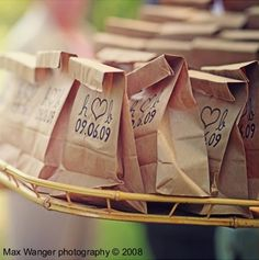 100 Standup Wedding Program Bags or Favors and by ExtravagantExits, $159.99