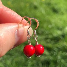 Your place to buy and sell all things handmade Coral Earrings, Gemstone Earrings, Drop Earrings, Boho Jewellery, Jewelry, Different Skin Tones, Red Coral, Natural Crystals, Yoga Teacher