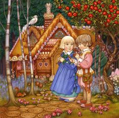Hansel and Gretel is one of artworks by Carol Lawson. Artwork analysis, large resolution images, user comments, interesting facts and much more. Hansel Y Gretel, Creation Photo, Fable, Brothers Grimm, Fairytale Art, Children's Book Illustration, Book Illustrations, Nocturne, Canvas Prints