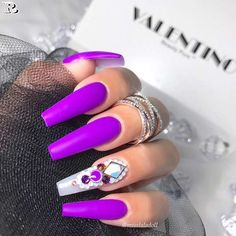 Gel Purple Nail Designs for Summer - Reny styles