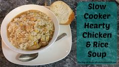 Slow Cooker Hearty Chicken & Rice Soup from The Stay-at-Home Life