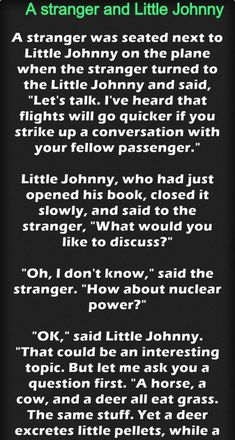 A stranger and Little Johnny on Plane – Jokes Jelly Funny Long Jokes, Hilarious, Funny Pictures, Funny Pics, Funny Stuff, Jokes And Riddles, Animal Jokes, Blind Dates, Great Stories