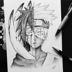 Pin de josé ordóñez em draw em 2019 anime art, naruto sketch e naruto art. Naruto Shippuden Sasuke, Anime Naruto, Kakashi And Obito, Naruto Art, Kakashi Drawing, Naruto Drawings, Anime Drawings Sketches, Manga Drawing, Manga Art