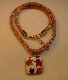 Autumn Kumihimo necklace on Etsy, $25.00