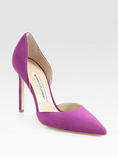 Radiant Orchid: Manolo Blahnik - Tayler Suede d'Orsay Pumps – selected by http://munich-and-beyond.com/