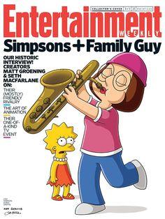 Os Simpsons e Uma Família da Pesada se encontram em capas de revista [ATUALIZADO] > Séries e TV | Omelete