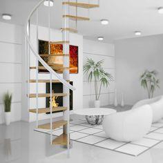 Modular Staircase, Spiral Staircase Kits, Loft Staircase, Staircase Handrail, Winding Staircase, Spiral Staircases, Staircase Ideas, Steel Balustrade, Balustrades