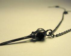Hummingbird Skull Necklace by billyblue22. Easy.com.