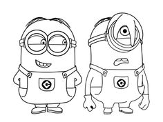 Minions Free Coloring Pages For Kids Minions Minion Coloring