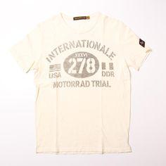 Johnson Motors/ジョンソンモータース/MOTORRAD TRIALS T-SHIRT/OFF WHITE/メンズファッション/トップス/Tシャツ/半袖/Uネック/クルーネック