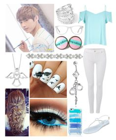 """With Jun for Seventeen's ""Love and Letter"" photo shoot"" by cmarnoldrr ❤ liked on Polyvore featuring Ippolita, River Island, 7 For All Mankind, L.K.Bennett, Muse, Bling Jewelry and Kate Spade"