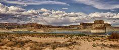 Camper at Lone Rock in Utah