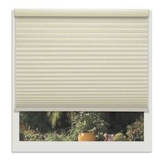 Linen Avenue Muslin 24 to 25-inches Wide Custom Cordless Light Filtering Cellular Shade (24 1/4 W x 42 to 48 H), Beige (Polyester)