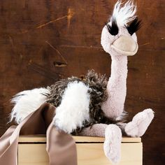 Orla The Ostrich - because anyone can have a teddy bear, but only the special ones have an ostrich.