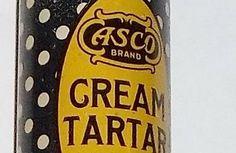 Vintage Polka Dot Spice Tin Asco Cream of Tartar