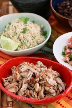 Slow Cooker Chicken Carnitas Recipe - Jeanette's Healthy Living @Jeanette Lai Thomas | Jeanette's Healthy Living