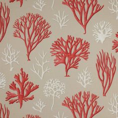 COWTAN & TOUT Jane Churchill TROPICAL Corals Oceana Fabric 10