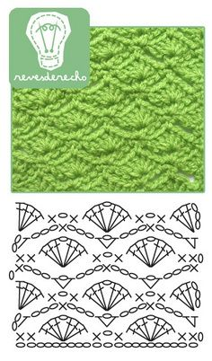 Fan Pattern #crochet #crochetstitch #shellstitch