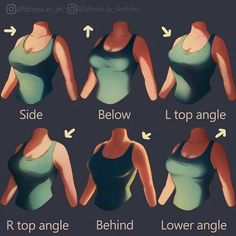 Drawing Tips Breast/chest lighting guide, reference, girl, Woman, shading guide - Digital Painting Tutorials, Digital Art Tutorial, Art Tutorials, Drawing Tutorials, Digital Paintings, Drawing Poses, Drawing Tips, Drawing Ideas, Shading Drawing