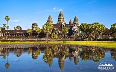 Angkor Wat is a temple complex in Cambodia and the largest religious monument in the world, with site measuring 162.6 hectares (1,626,000 sq meters).