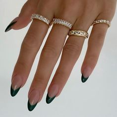 Aycrlic Nails, Swag Nails, Hair And Nails, Dark Gel Nails, Chic Nails, Black Nails, Nail Jewelry, Jewellery, Nail Ring